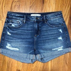 HIDDEN High Rise Distressed Denim Shorts sz 31